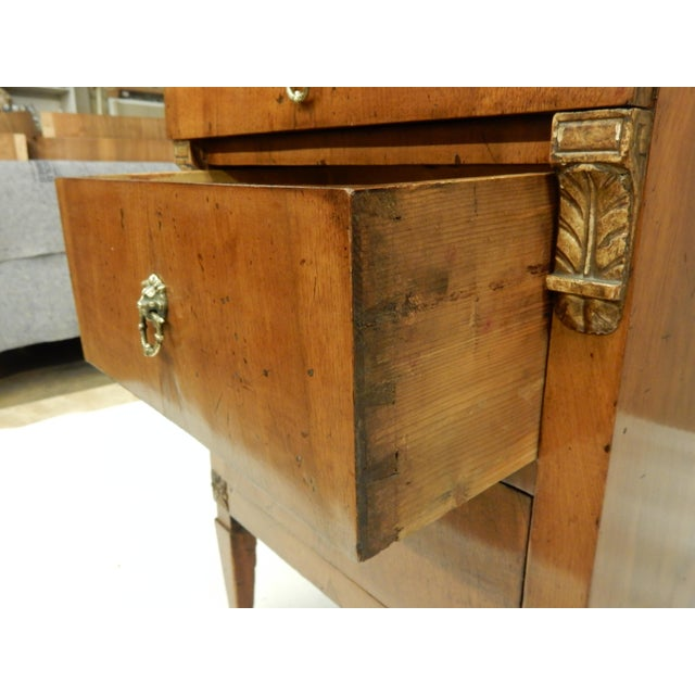 Brown Early 19th Century Small Italian Walnut Commde For Sale - Image 8 of 11