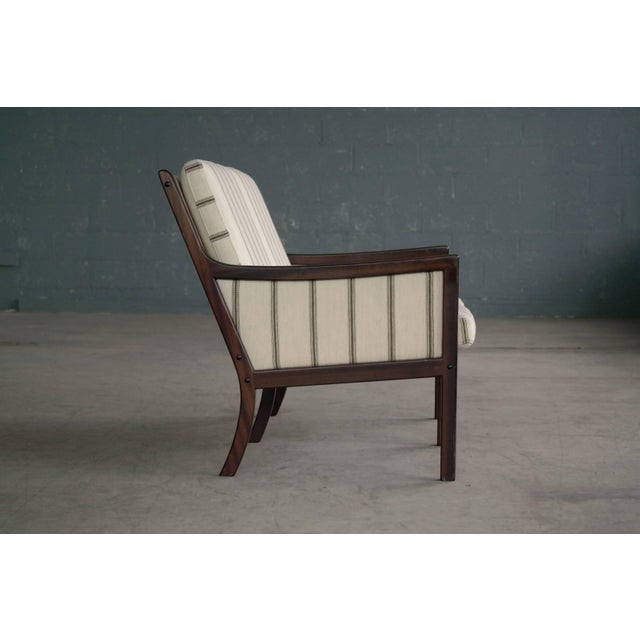 Mahogany Danish Midcentury Mahogany Settee or Loveseat by Ole Wanscher for Poul Jeppesen For Sale - Image 7 of 10