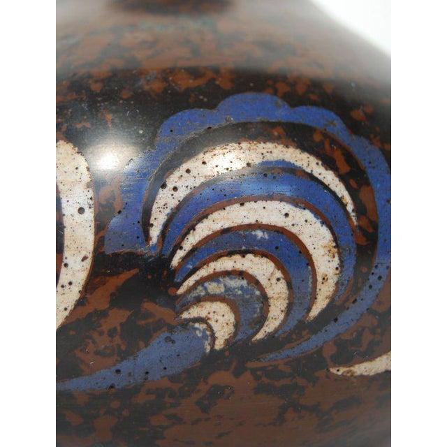 Art Deco Primavera Bronze Cloisonné Vase For Sale - Image 3 of 5