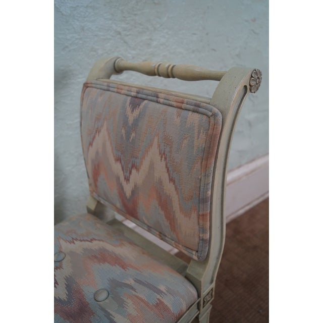 Vintage French Louis XVI High Arm Window Bench For Sale - Image 5 of 10
