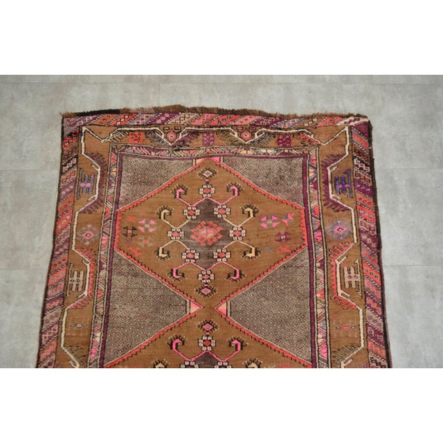 Hand Knotted Natural Colors Tribal Rug - 5′3 ″ x 13′1″ - Image 6 of 10