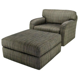 Modern Jay Spectre Studio Club Chair and Ottoman - 2 Pieces For Sale