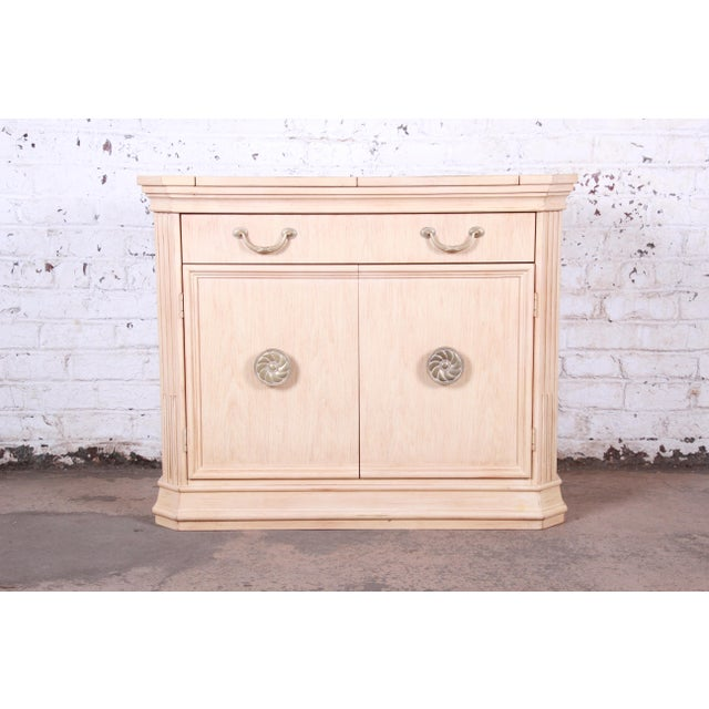 """Mediterranean style maple sideboard buffet or bar server Made by Bernhardt Furniture USA, 1990s Measures: 45.38""""W x 21""""D x..."""