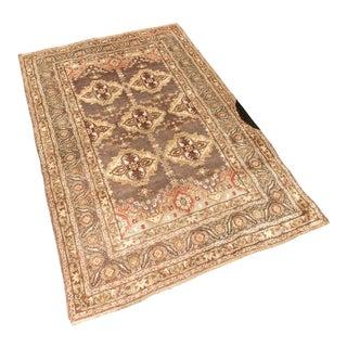 Vintage Mid-Century Turkish Kirsehir 'Yonca' Rug - 4′7″ × 6′10″ For Sale