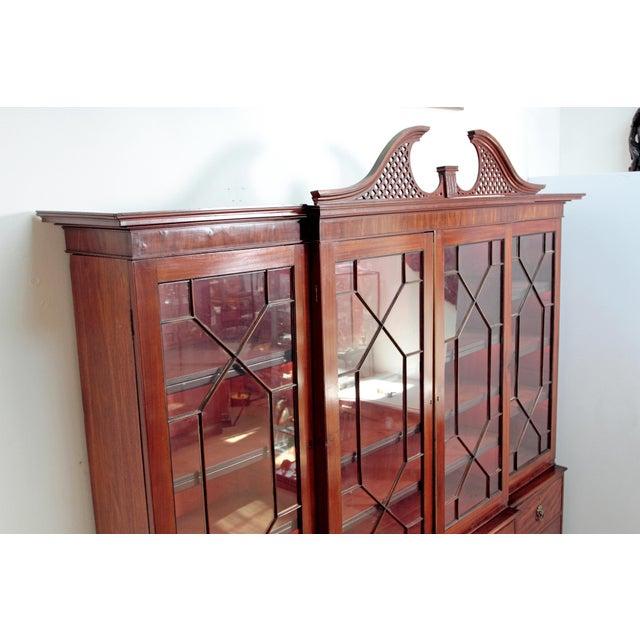 Elegant Period George III Mahogany Breakfront Bookcase - Image 7 of 11