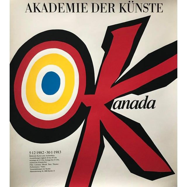 Original 1983 Vittorio Poster, Akademie Der Künste, Signed and Dated For Sale - Image 6 of 6