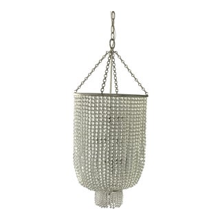 Visual Comfort Aerin Jaqueline Long Chandelier in Burnished Silver