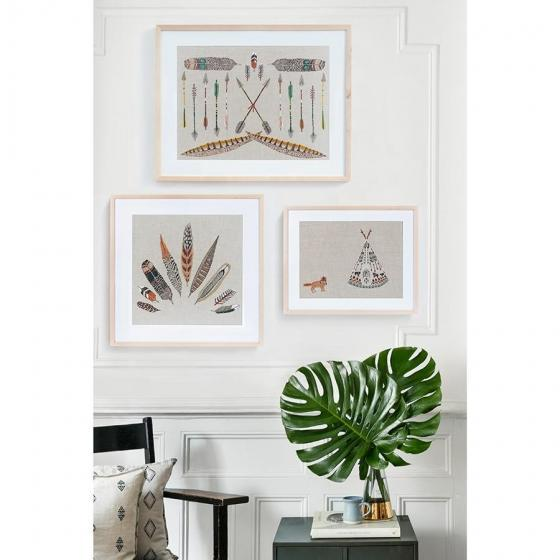 Contemporary Contemporary Tipi and Fox Framed Art For Sale - Image 3 of 5