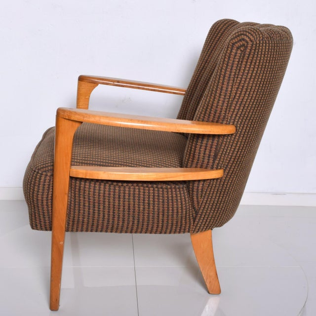 Mid-Century Modern 1950s Mid Century Modern Heywood Wakefield Maple Lounge Chair For Sale - Image 3 of 12