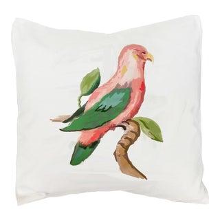 Dana Gibson Pink Parrot Pillow For Sale