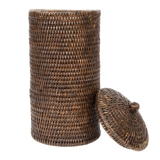 Artifacts Rattan Double Toilet Roll Holder For Sale