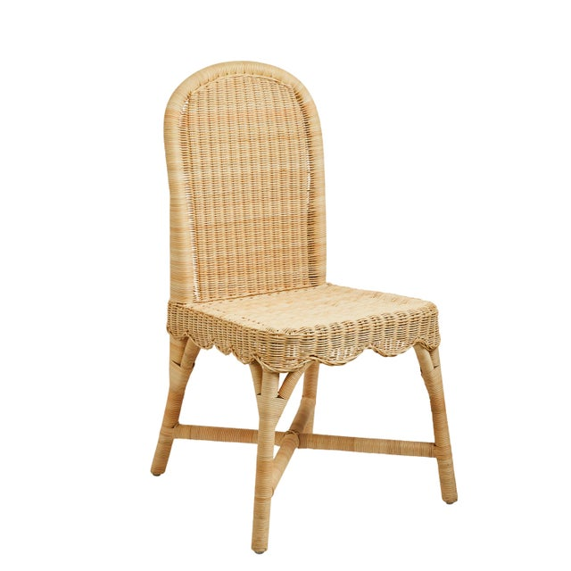 2020s Linton Scalloped Rattan Side Chairs, Set of 2 For Sale - Image 5 of 12