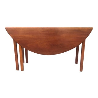 Vintage Chippendale Cherry Gate Leg Drop Leaf Table For Sale