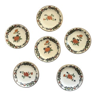 Vintage English China Butter Pats Plates - Set of 6 For Sale