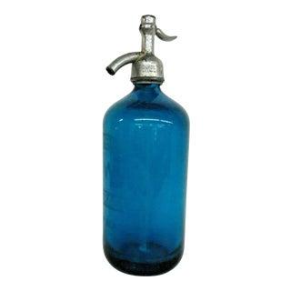 Vintage Blue Seltzer Bottle For Sale