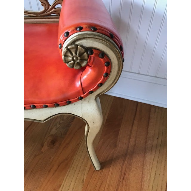1960s French Provincial Scrolled Bench For Sale In Charlotte - Image 6 of 7