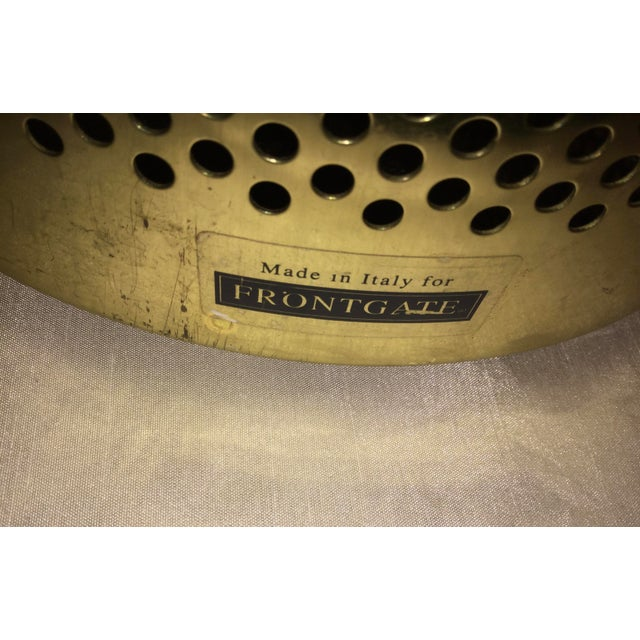 Italian 20th Century Italian Brass Wastebasket or Trash Can For Sale - Image 3 of 7