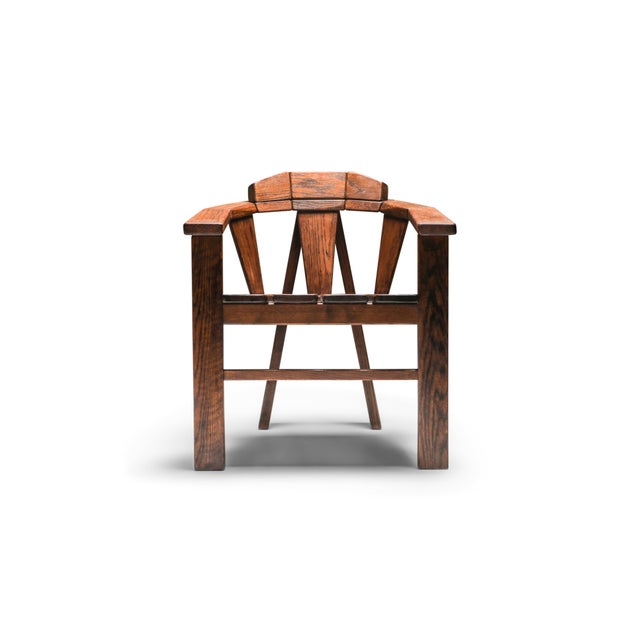 Walnut Craftsman Chair - 1960s For Sale - Image 13 of 13