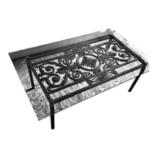 French Provincial Iron Coffee Table For Sale