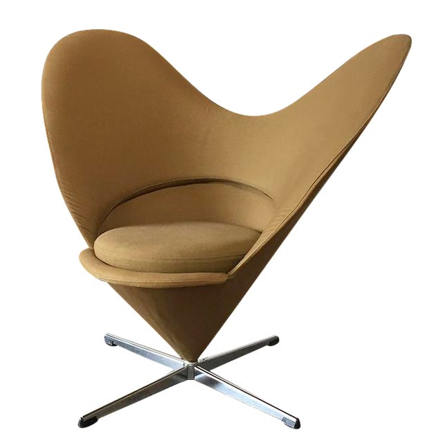 vintage verner panton vitra heart chair chairish. Black Bedroom Furniture Sets. Home Design Ideas