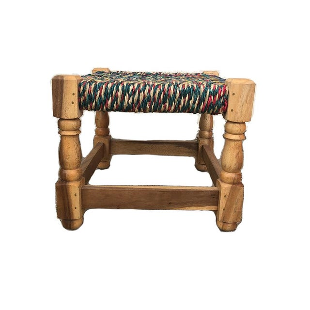 A beautiful little stool that would be sure to add function and fun for any space. It is vintage and is from the mid...