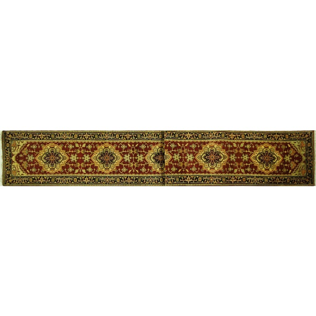 "Heriz Serapi Burgundy Handmade Rug - 2'5"" x 19'4"" - Image 1 of 7"