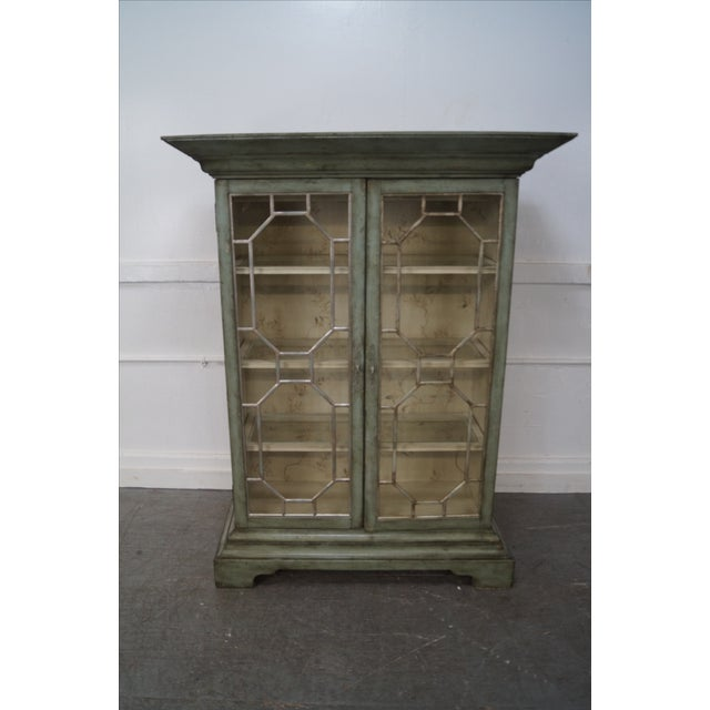 Colonial Williamsburg Architectural Curio Cabinet For Sale - Image 5 of 10