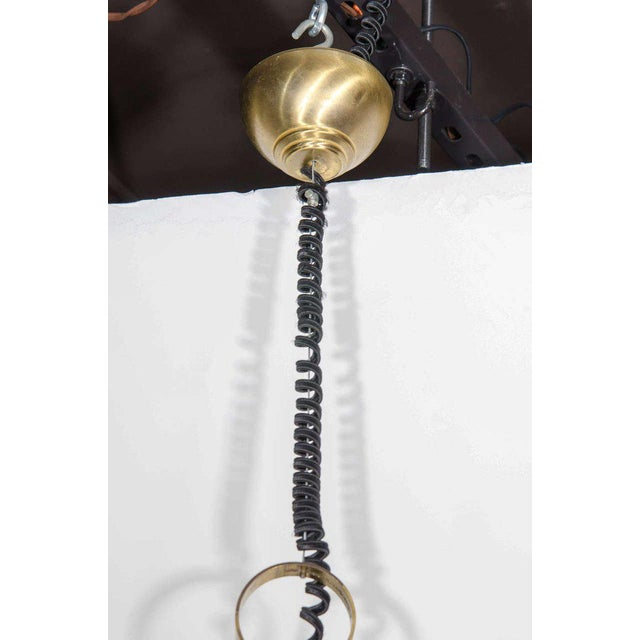 Seguso Large Murano Chandelier With Elongated Bell Form, 1960's For Sale - Image 9 of 10