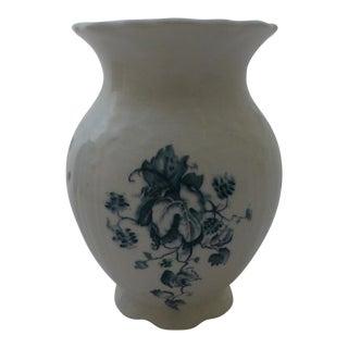 Antique J & E Mayer Blue Floral Motif Vase For Sale