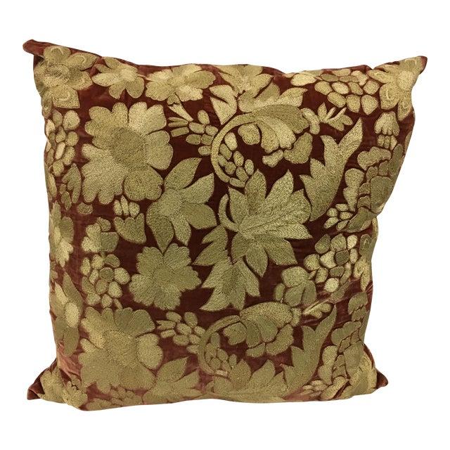 Anke Dreschel Velvet Embroidered Pillows - A Pair - Image 2 of 6