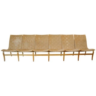 "Bruno Mathsson's ""Eva,"" Bentwood Six-Seat Bench For Sale"
