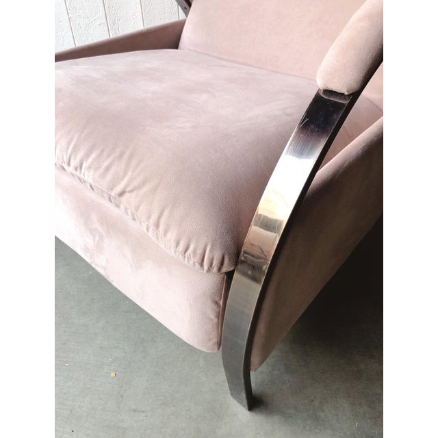 Pink 1980s Vintage George Mulhauser for Design Institute of America Lounge Chair For Sale - Image 8 of 12