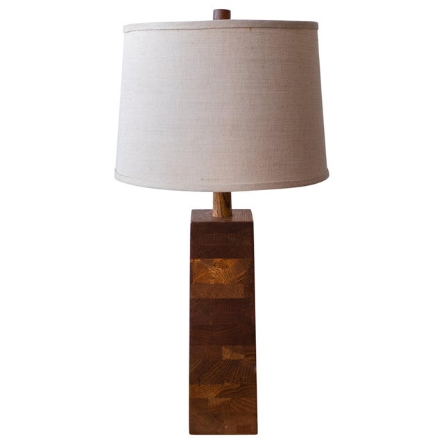 Jane and Gordon Martz Wood Lamp For Sale - Image 9 of 9