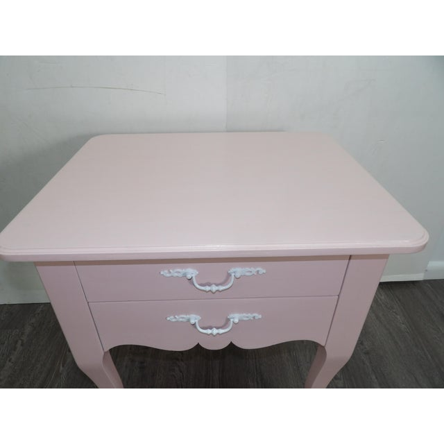 20th Century Light Pink Small Side Table For Sale - Image 4 of 5
