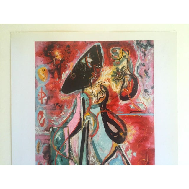 "This Jackson Pollock Foundation Abstract Expressionist offset lithograph collector's print "" The Moon - Woman "" 1942, is a..."
