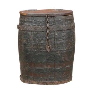 Rustic Vintage Barrel Side Table