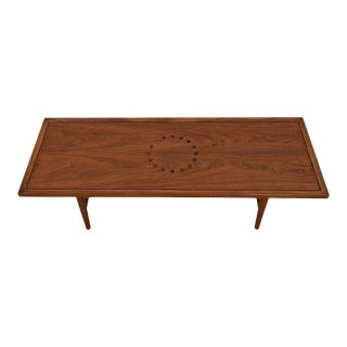 Mid Century Modern Drexel Declaration Coffee Table in Walnut