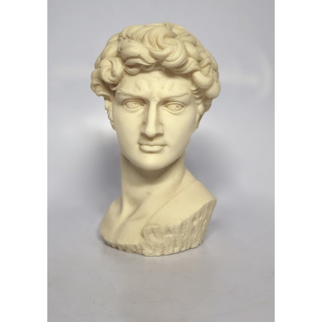Plastic Vintage Mid-Century Neoclassical Style Bust of David Sculpture For Sale - Image 7 of 7