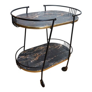 1950s Mid-Century Modern Raymor Bar Cart For Sale
