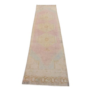 Vintage Turkish Handmade Wool Runner For Sale