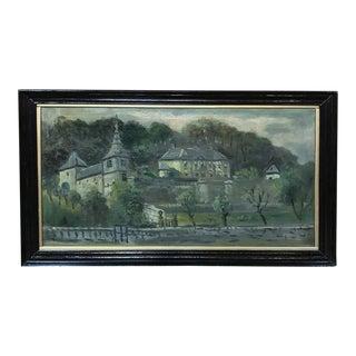 Antique Framed Oil Painting by Christoffel Hendrik Dijkman For Sale