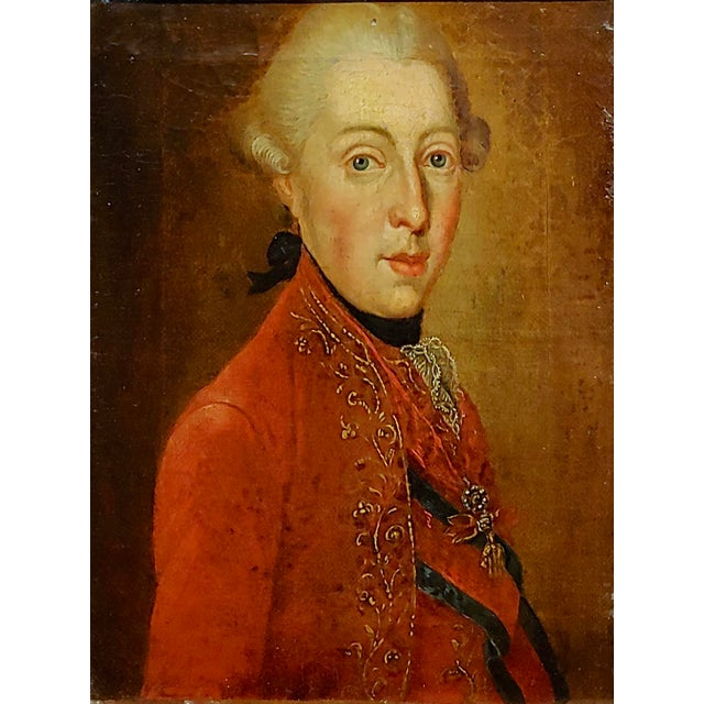 """French 18th Century """"Ferdinand DI Borbone, King of Naples"""" Oil Painting For Sale - Image 3 of 10"""