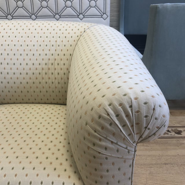 Custom Rolled Arm Swivel Chairs - a Pair For Sale In San Francisco - Image 6 of 9