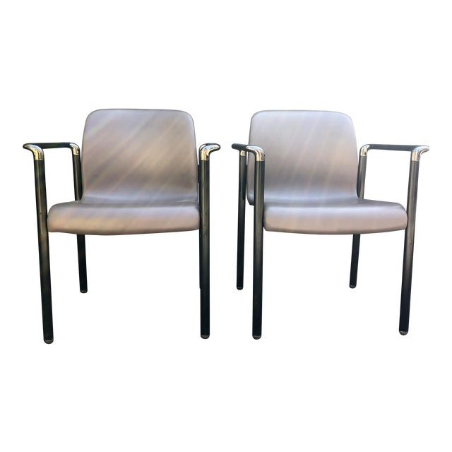 best service 6ef6d 63a57 1980s Vintage Herman Miller Stacking Chairs- a Pair