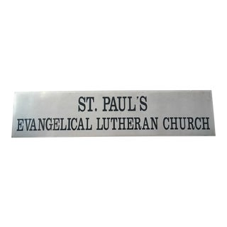 St Paul's Evangelical Lutheran Church Sign