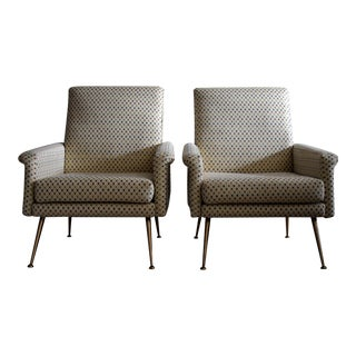 Italian Mid Century Modern Lounge Chairs For Sale