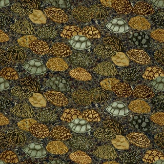 Hunt Slonem for Lee Jofa, Star Of India Fabric, Neutrals, 1 Yard For Sale