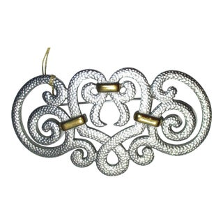 Christian Dior Silver and Gold Pin For Sale