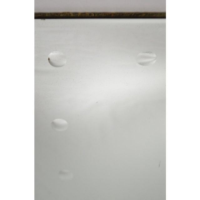 Glass Mid Century Modern Frameless Beveled Mirror For Sale - Image 7 of 11
