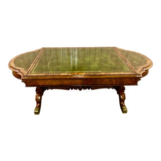 "19th Century Custom ""Bonfire of the Vanities"" Walnut Game Table or Coffee Table For Sale"
